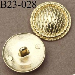 bouton 23 mm métal doré accroche un anneau diamètre 23 millimètres