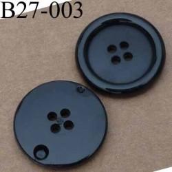 bouton 27 mm noir 4 trous diamètre 27 millimètres