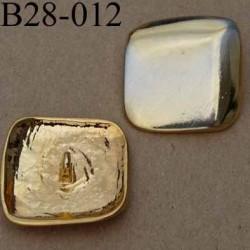 bouton 28 mm métal doré accroche un anneau diamètre 28 mm
