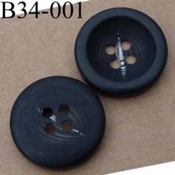 bouton 34 mm noir mat fantaisie diamètre 34 mm
