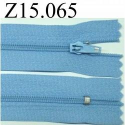 fermeture 15 cm bleu non séparable zip nylon