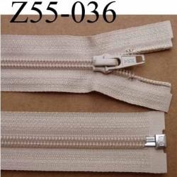 fermeture éclair YKK longueur 55 cm couleur beige séparable largeur 3.2 cm largeur du zip spirale 6,5 mm curseur métal