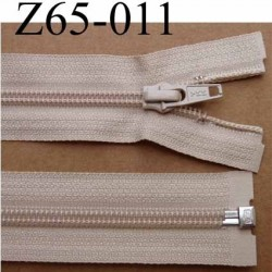 fermeture éclair YKK longueur 65 cm couleur beige séparable largeur 3.2 cm largeur du zip spirale 6,5 mm curseur métal