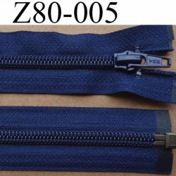 fermeture éclair YKK longueur 80 cm couleur bleu marine séparable largeur 3.2 cm largeur du zip spirale 6,5 mm curseur métal