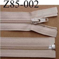 fermeture éclair YKK longueur 85 cm couleur beige séparable largeur 3.2 cm largeur du zip spirale 6,5 mm curseur métal