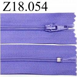 fermeture 18 cm violet non séparable zip nylon
