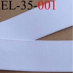 élastique plat très belle qualité couleur blanc largeur 35 mm vendue au mètre