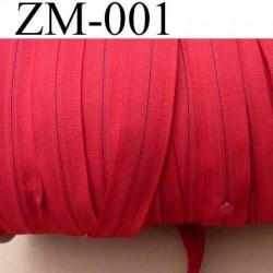 fermeture éclair de marque YKK au mètre couleur rouge un curseur au mètre largeur 27 mm largeur du zip 5 mm