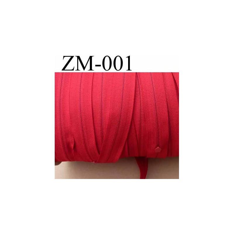 Fermeture zip de marque ykk au m tre couleur rouge un curseur au m tre largeur 27 mm largeur du - Lino 5 metre de large ...