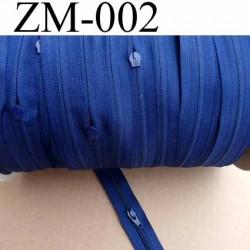 fermeture éclair de marque YKK au mètre couleur bleu un curseur au mètre largeur 27 mm largeur du zip 5 mm