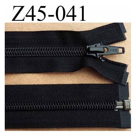 fermeture éclair YKK longueur 45 cm couleur noir séparable largeur 3.2 cm largeur du zip spirale 6,5 mm curseur métal