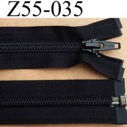 fermeture éclair YKK longueur 55 cm couleur noir séparable largeur 3.2 cm largeur du zip spirale 6,5 mm curseur métal