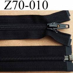 fermeture éclair YKK longueur 70 cm couleur noir séparable largeur 3.2 cm largeur du zip spirale 6,5 mm curseur métal