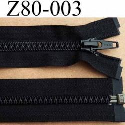 fermeture éclair YKK longueur 80 cm couleur noir séparable largeur 3.2 cm largeur du zip spirale 6,5 mm curseur métal