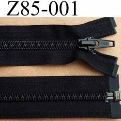 fermeture éclair YKK longueur 85 cm couleur noir séparable largeur 3.2 cm largeur du zip spirale 6,5 mm curseur métal