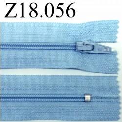 fermeture 18 cm bleu non séparable zip nylon