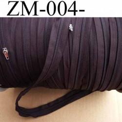 fermeture éclair de marque YKK au mètre couleur marron 1 curseur pour 2 mètres largeur 25 mm largeur du zip 4 mm