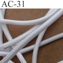 un élastique cordon longueur 190 centimètres très belle qualité couleur blanc lumineux largeur 3 mm une longueur de 1,90 mètre