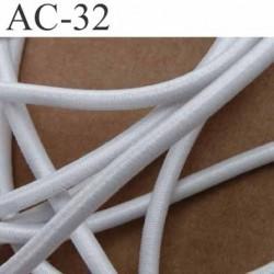 élastique cordon longueur 290 cm très belle qualité très très solide couleur blanc diamètre 4,5 mm une longueur de 2,90 mètre