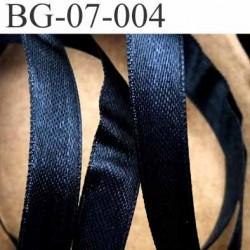 biais galon ruban brillant satiné couleur noir double face largeur 7 mm vendu au mètre