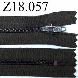 fermeture 18 cm marron non séparable zip nylon