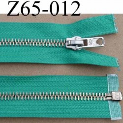 fermeture éclair haut de gamme superbe longueur 65 cm couleur vert séparable largeur 3.3 cm glissière métal largeur 6.5 mm