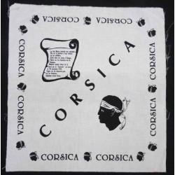 coupon de tissu imprimé CORSICA origine de la tête de maure  100 % coton 58 X 62 cm