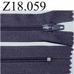 fermeture 18 cm violet parme non séparable zip nylon