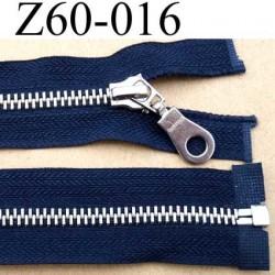 fermeture éclair longueur 60 cm couleur bleu marine séparable zip métal largeur 3 cm glissière zip 6 mm