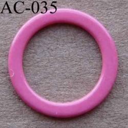 anneau métallique plastifié couleur rose  diamètre 14 mm vendu à l'unité