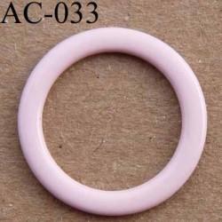 anneau métallique plastifié rose pâle brillant laqué pour soutien gorge diamètre 14 mm vendu à l'unité haut de gamme