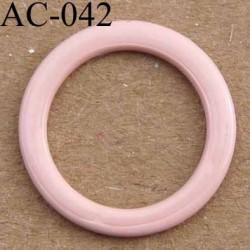 anneau métallique plastifié couleur rose camellia brillant laqué diamètre 14 mm vendu à l'unité haut de gamme