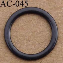 anneau métallique plastifié couleur noir brillant laqué pour soutien gorge diamètre 14 mm vendu à l'unité haut de gamme