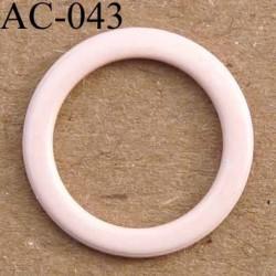anneau métallique plastifié couleur rose beige brillant laqué pour soutien gorge diamètre 14 mm vendu à l'unité haut de gamme