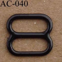 boucle de réglage métal plastifié couleur noir brillant laqué pour soutien gorge longueur 12 mm vendu à l'unité haut de gamme