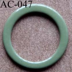 anneau métallique plastifié couleur vert olive pour soutien gorge diamètre 14 mm vendu à l'unité haut de gamme