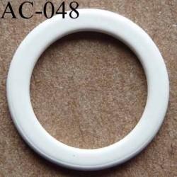 anneau métallique plastifié couleur blanc cassé pour soutien gorge diamètre 14 mm vendu à l'unité haut de gamme