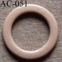 anneau métallique plastifié couleur chair pour soutien gorge diamètre 13 mm vendu à l'unité haut de gamme