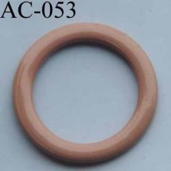 anneau métallique plastifié couleur chair pour soutien gorge diamètre 14 mm vendu à l'unité haut de gamme
