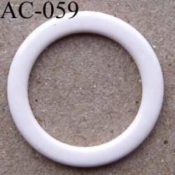anneau métallique plastifié couleur rose pétale brillant laqué diamètre 14 mm vendu à l'unité haut de gamme