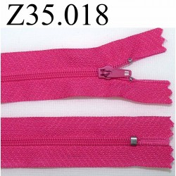 fermeture 35 cm fuschia non séparable zip nylon