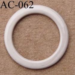 anneau métallique plastifié couleur marron glacé brillant laqué diamètre 14 mm vendu à l'unité haut de gamme