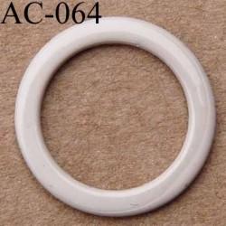 anneau métallique plastifié couleur marron glacé brillant laqué diamètre 13 mm vendu à l'unité haut de gamme
