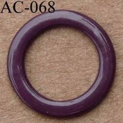 anneau métallique plastifié couleur bordeaux foncé brillant laqué diamètre 13 mm vendu à l'unité haut de gamme