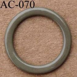anneau métallique plastifié couleur kaki brillant laqué diamètre 13 mm vendu à l'unité haut de gamme
