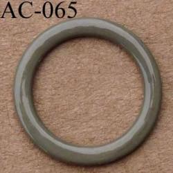 anneau métallique plastifié couleur kaki brillant laqué diamètre 14 mm vendu à l'unité haut de gamme