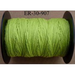 Echevette coton retors réf couleur 907 vert anis art 89 longueur de bobine 300 m soit 30 échevettes de 10 m 23 cts l'échevette