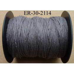 Echevette coton retors réf couleur 2114 gris art 89 longueur de bobine 300 m soit 30 échevettes de 10 m 23 cts l'échevette