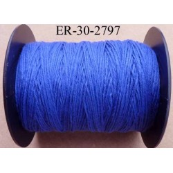 Echevette coton retors réf couleur 2797 bleu art 89 longueur de bobine 300 m soit 30 échevettes de 10 m 23 cts l'échevette