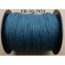 Echevette coton retors réf couleur 2924 bleu art 89 longueur de bobine 300 m soit 30 échevettes de 10 m 23 cts l'échevette